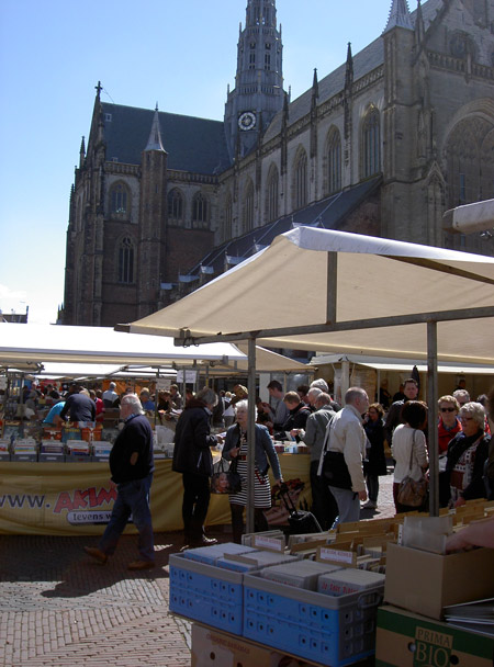 Comics Fair held around Haarlem cathedral