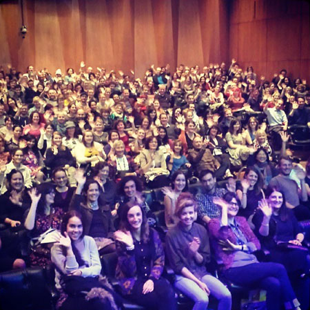 Oliver Jeffers posted a photo of his audience on instagram after the talk