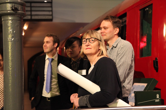 The Serco Prize Winners from right to left: Nicholas Stevenson, Gill Bradley and Eric Chow