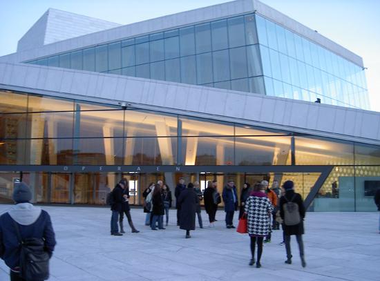 EIF members outside the Opera House