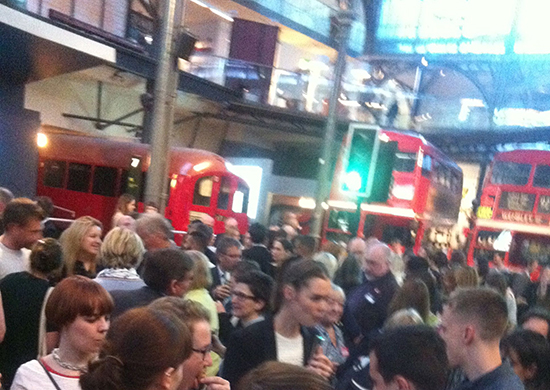 The excited crowd at LTM private view event