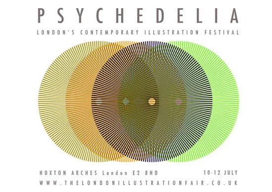 London Illustration FairSummerFestivalPsychedeliaBanner_3