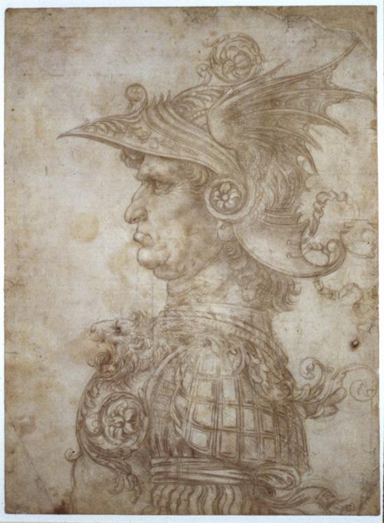 'Bust of a Warrior' Leonardo da Vinci