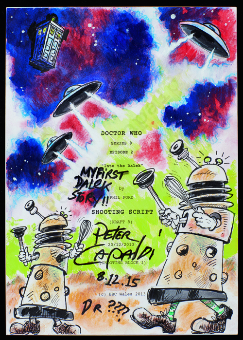 Doctor Who script illustrated by Peter Capaldi low res