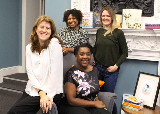 Judging panel: Faber Children's Publisher Leah Thaxton, Andlyn Literary Agent Davinia Andrew- Lynch, Faber Creative Director Donna Payne, Faber Children's Art Director Emma Eldridge.