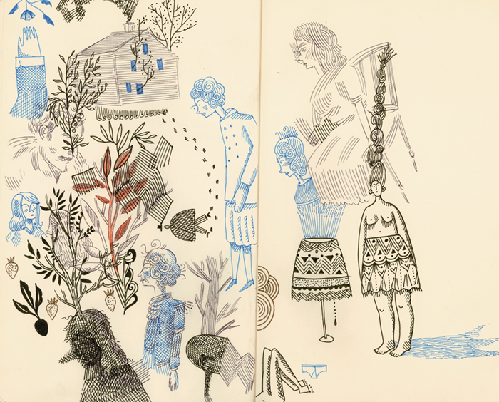 Lilli Carré, from Animation Sketchbooks, published by Thames and Hudson 2013