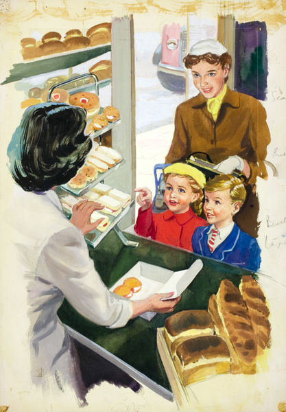 Shopping With Mother, be M. E. Gagg. Illustrated by J. H. Wingfield, 1958