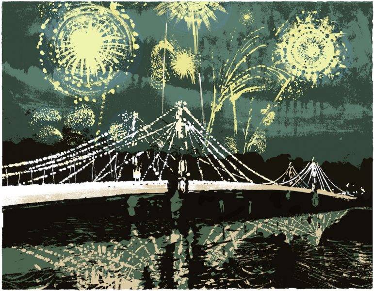 Fireworks Over Albert Bridge
