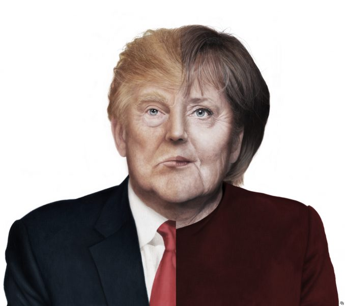 Merkel - Trump / The Financial Times