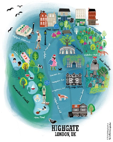 Highgate Village Map