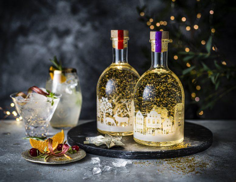 M&S Christmas Gin Liqueur Snow Globes