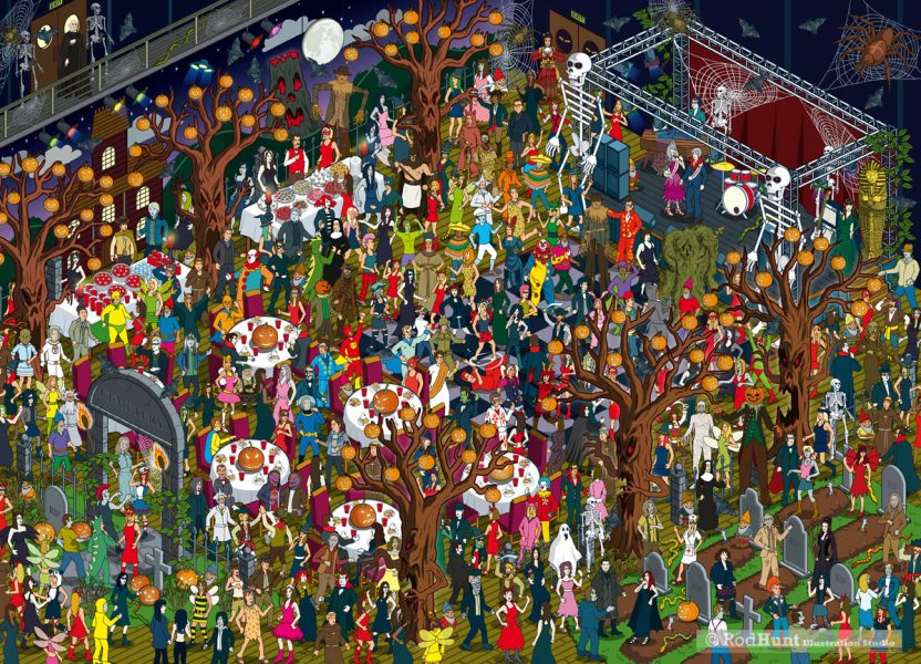 Goosebumps Movie Where's The Creature? Viral Game Illustration