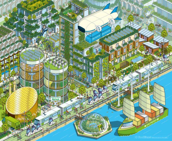Megacity 2050: Future City Illustration