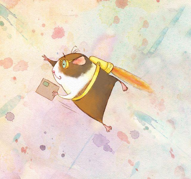Cute, flying guinea pig
