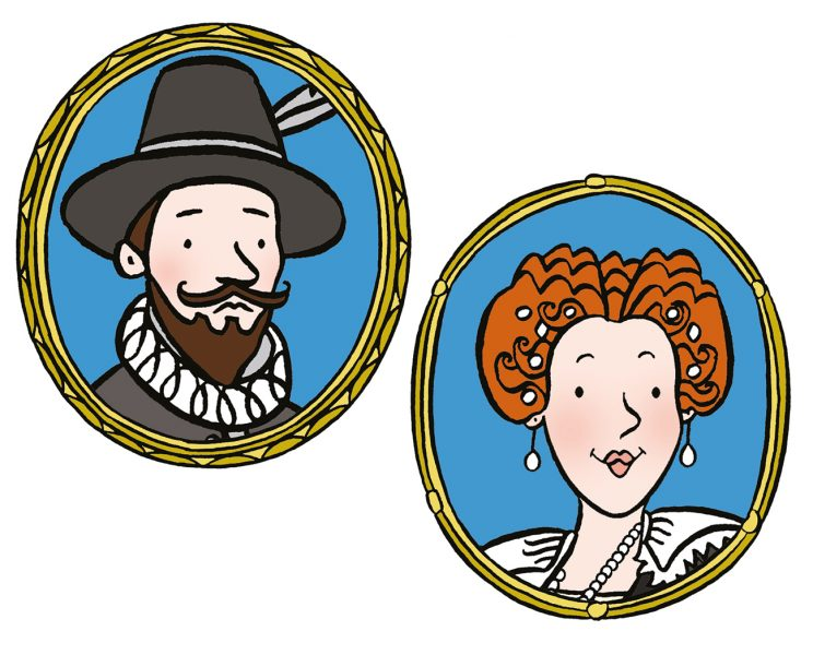 Stephanie-Strickland-Sir-Walter-and-Lady-Bess-Raleigh