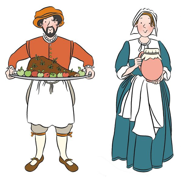 Stephanie-Strickland-Tudor-cook-and-servant