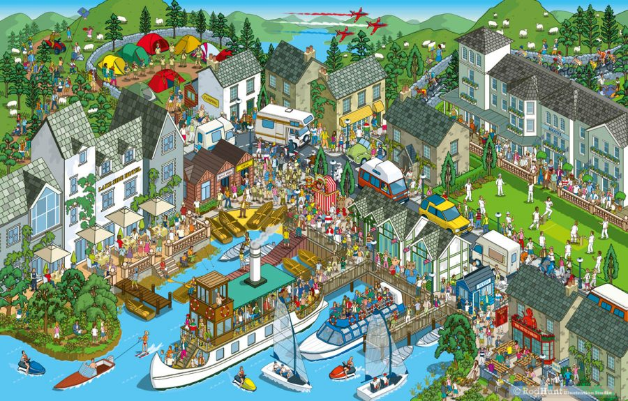 Lake District - Daily Mail Great British £100,000 Treasure Hunt Illustration