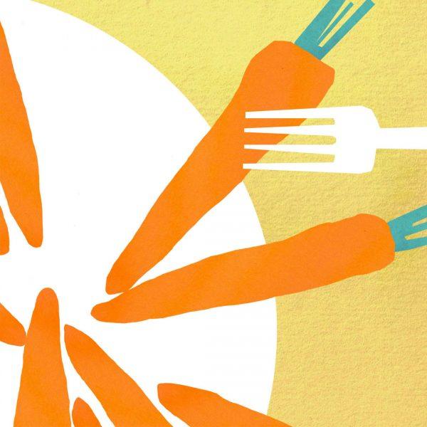 Carrots - for Felicity Lyons - Dietitian website (detail)