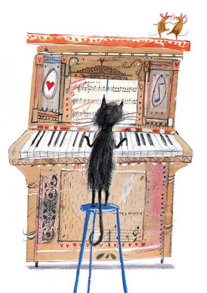 Laura Hughes Cat Piano