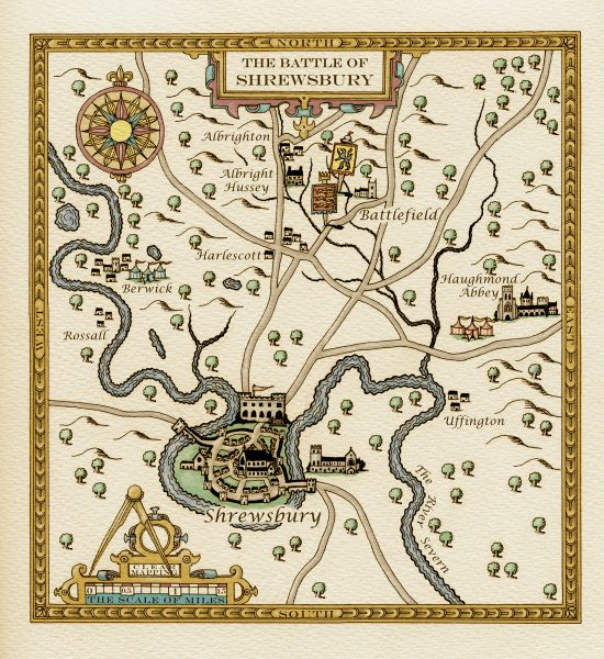 Pictorial Location Map of Battle of Shrewsbury