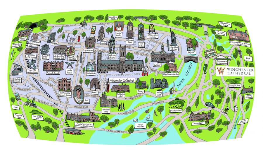 Pictorial Map of Winchester