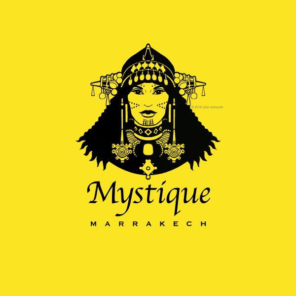 Mystique Logo Female tribal Africa Ethnic Beauty Brand Fashion Travel Romance Figurative Realistic Logo Desert