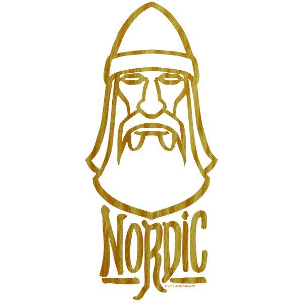NORDIC ASH  Viking Nature Environment History LOGO ICON Brand SYMBOL BRAND