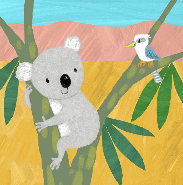 koala and kookaburra