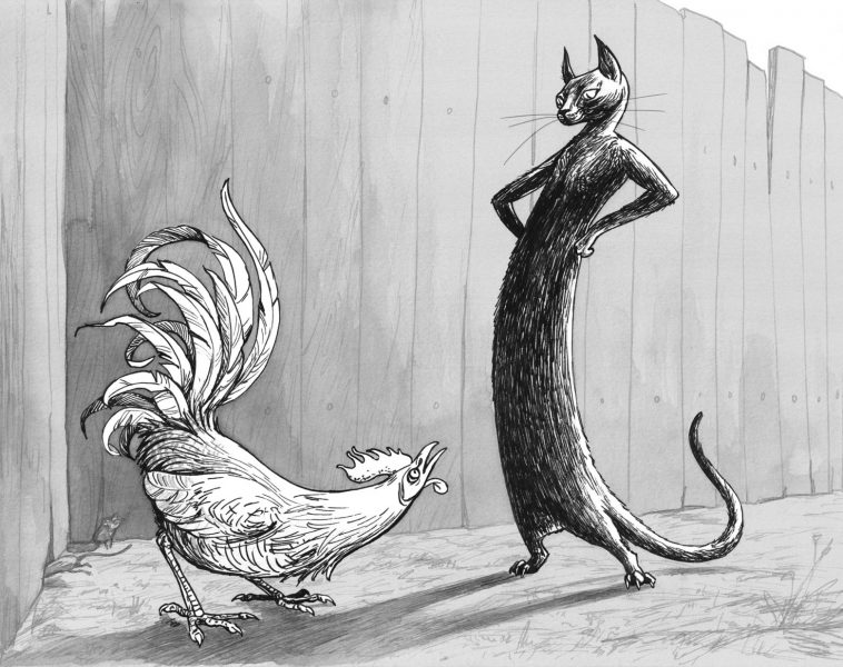 Aesop, The Cat and the Cock