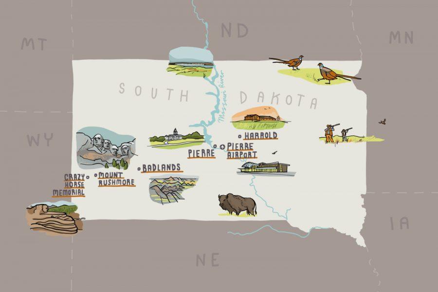 AOPA South Dakota Map