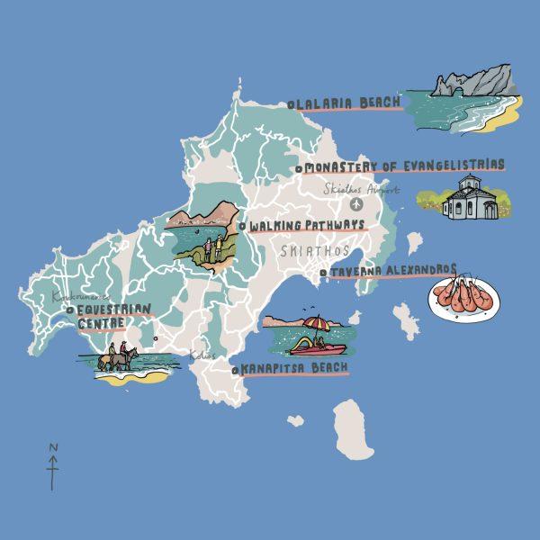 British Airways Greece Skiathos Map