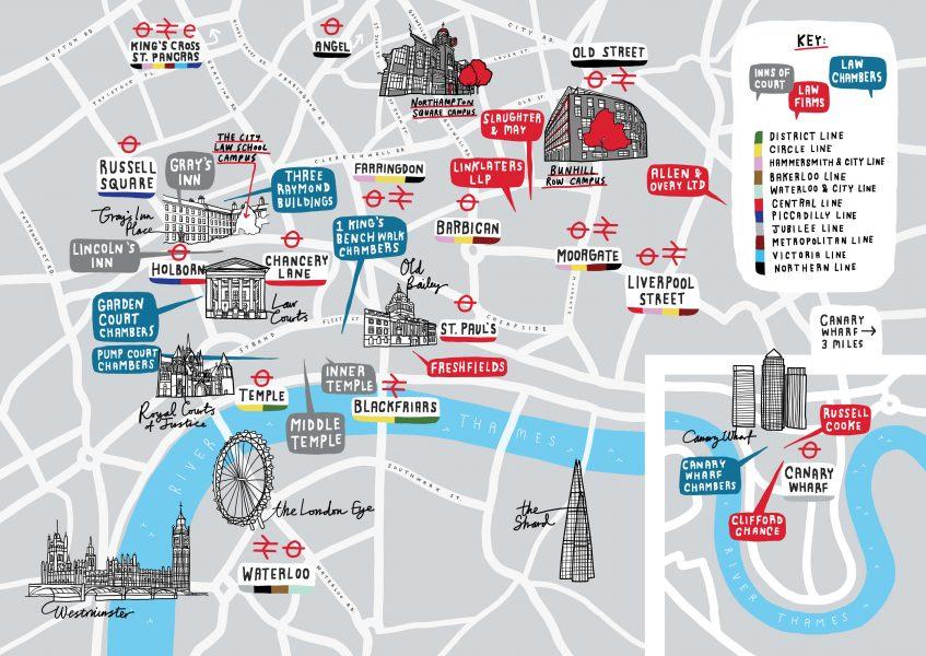 City University London Law Map