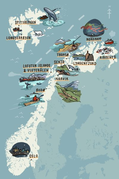 The Independent Visit Norway Map