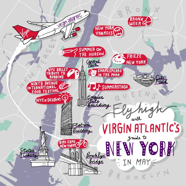 Virgin Atlantic New York Map