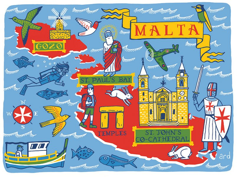 A Map of Malta