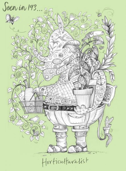 horticulturalist (green) by Beccy Blake