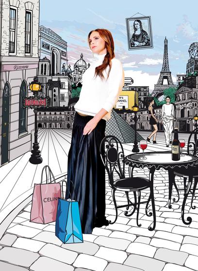 Victoria Beckham In Paris / Jetaway Travel Magazine