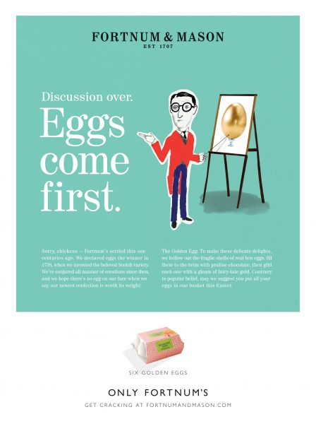 Egg's Come First / Fortnum & Mason