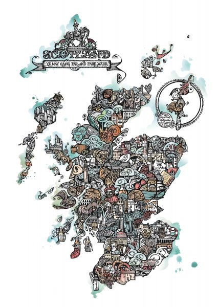 JP Scotland map colour