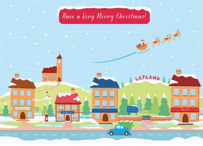 Lapland Christmas Card