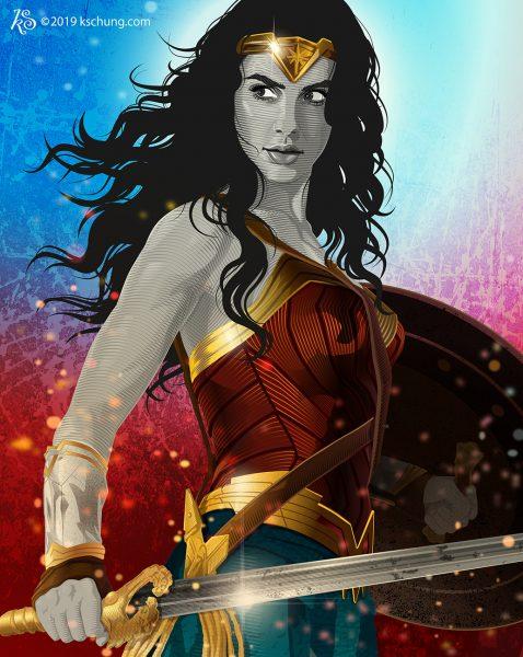 Portrait Wonder Woman