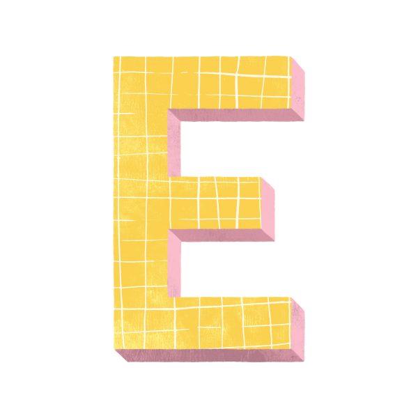 Alphabet - Letter E