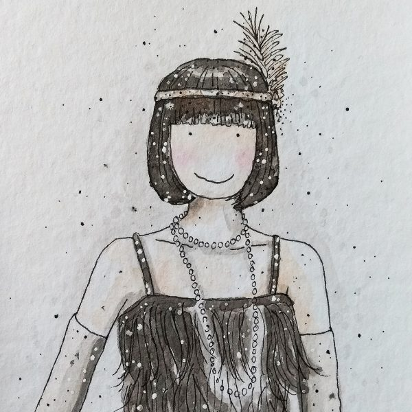 Bob Haired Flapper Girl