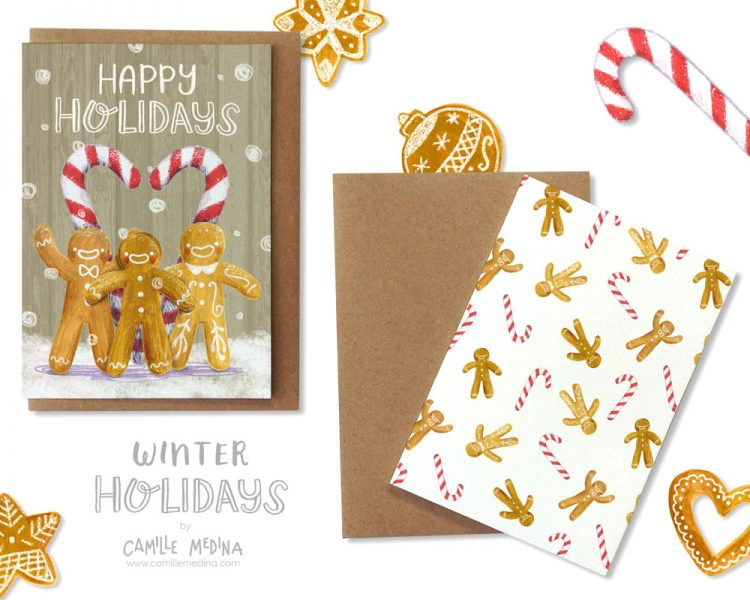 Winter Holidays Stationery Collection