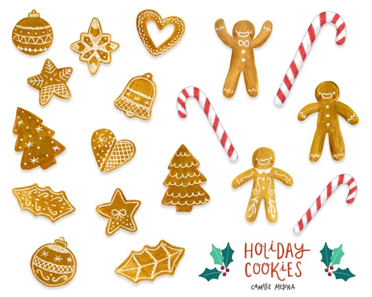 Holiday Biscuits Icon Sheet