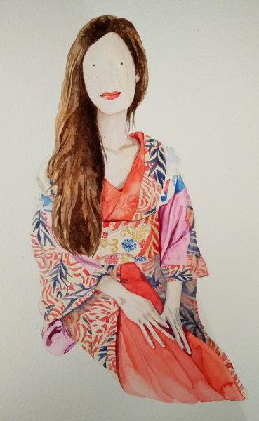 Esme in Kimono