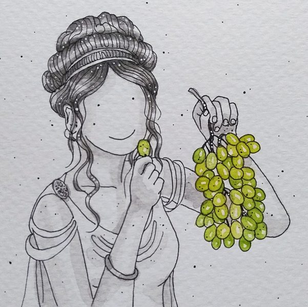 Greek Goddess with Grapes