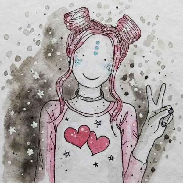 Space Buns Girl