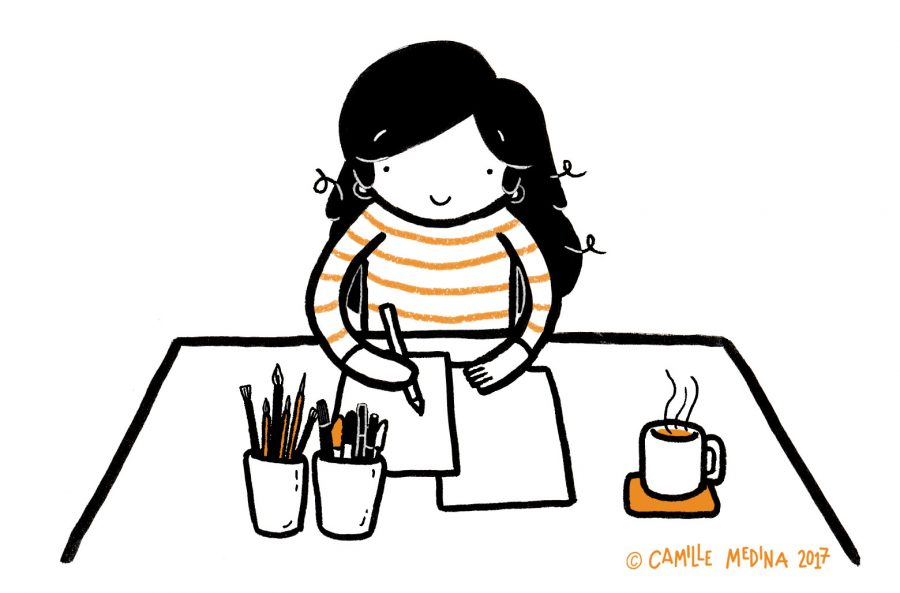Happy illustrator