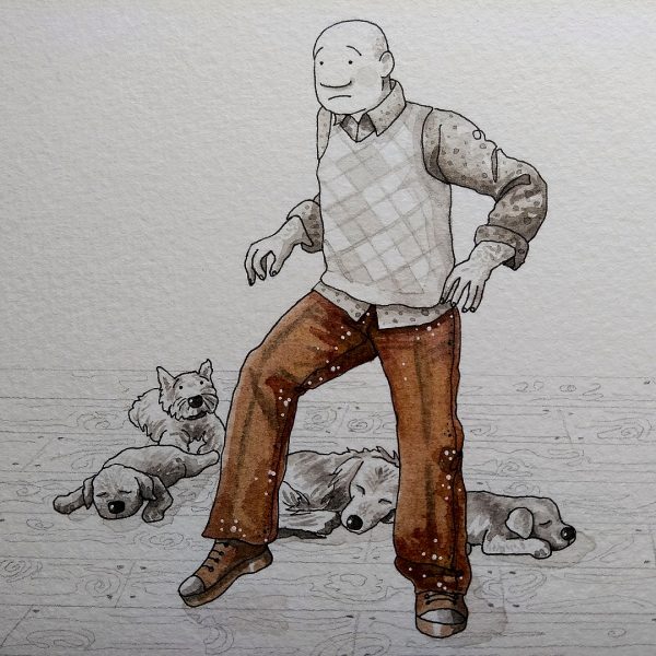 Man with Dogs